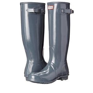 Hunter Graphite Gray Gloss Tall Rain Boots